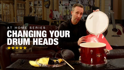 Changing Your Drum Heads at Home - At Home Series!