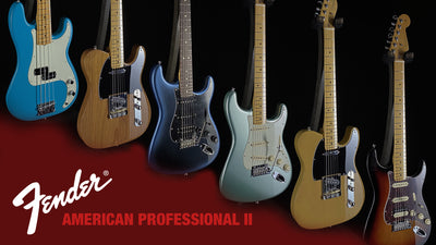 New Fender American Professional II Guitars