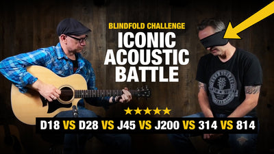 Blindfold Challenge - Acoustic Guitar ICONS Battle - Which Sounds Best??