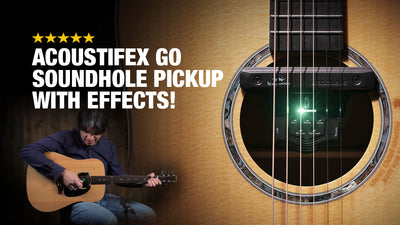 Kepma AcoustiFex GO Soundhole Pickup with Effects!