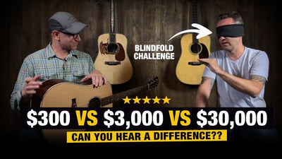 Acoustic Guitar Blindfold Challenge! $300 vs $3,000 vs $30,000