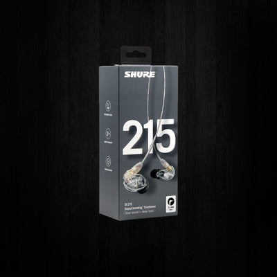 Shure SE215 Sound Isolating Earphones Clear