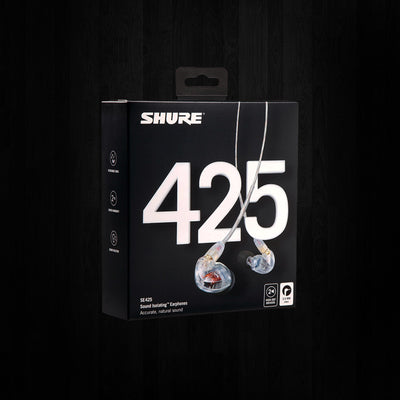 Shure SE425-CL Professional Sound Isolating Earphones Clear
