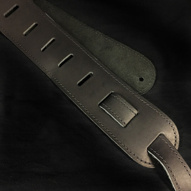"MV Leather Strap - 2.5"" (Music Villa Logo)"
