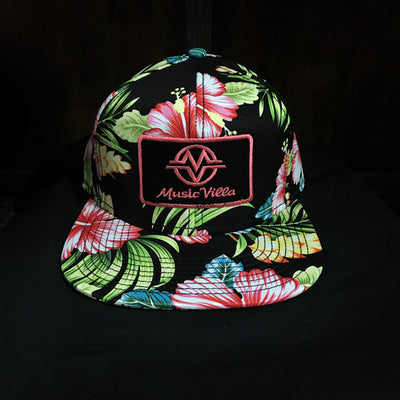 Hat - Floral Hawaiian Style Snapback (patch logo)