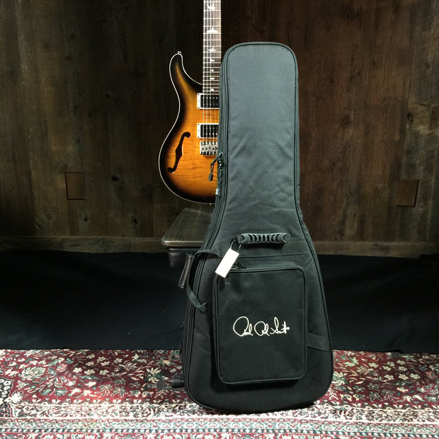 Paul Reed Smith CE24 Semi-Hollow 2019 Black Neck Amber Smoke Burst