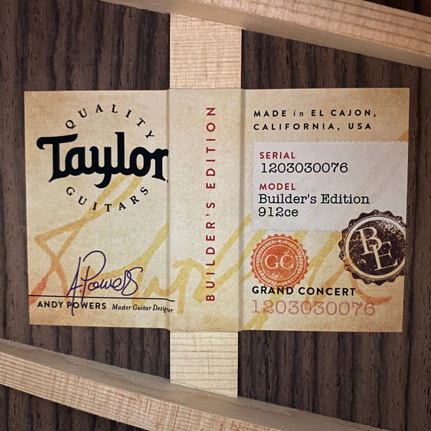 Taylor Builder's Edition 912ce
