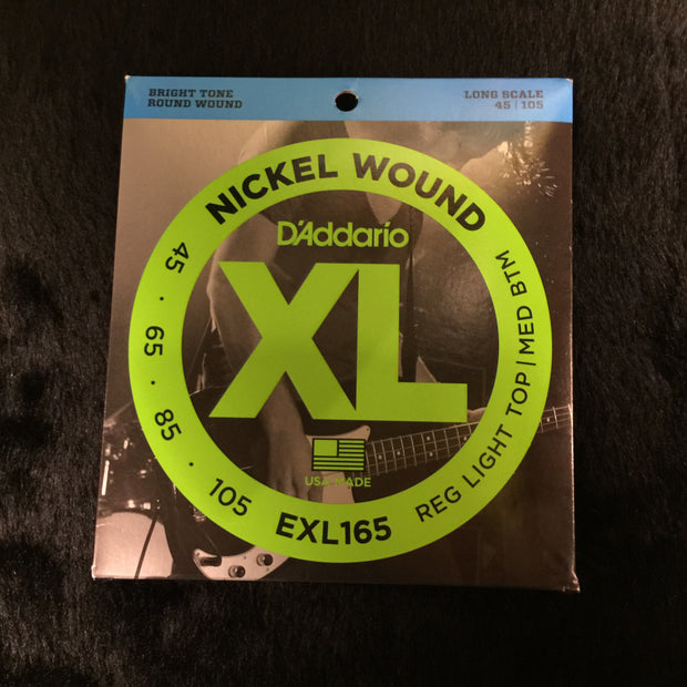 D'Addario EXL165 Regular Light Top Medium Bottom Bass 45-105