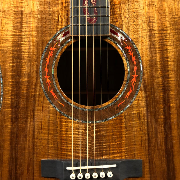 Martin Red Dragon Custom Dreadnought Highly Figured Koa (2017)