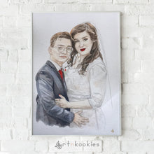 Load image into Gallery viewer, Custom Wedding Anniversary Portrait Painting