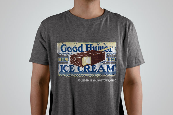 """The Original"" Good Humor Tee - Ice Cream Bar - Officially Licensed - Heather Grey - Sweet Memories Vintage Tees"