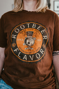 Dum Dums® Rootbeer Flavor Tee | Vintage Candy Inspired Lollipop Shirt | Distressed Unisex T-shirt