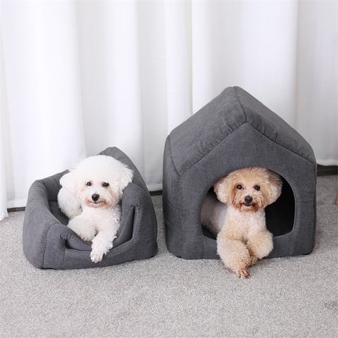 2 In 1 Pet Dog Beds House with Detach Mat Kennel - Tresella