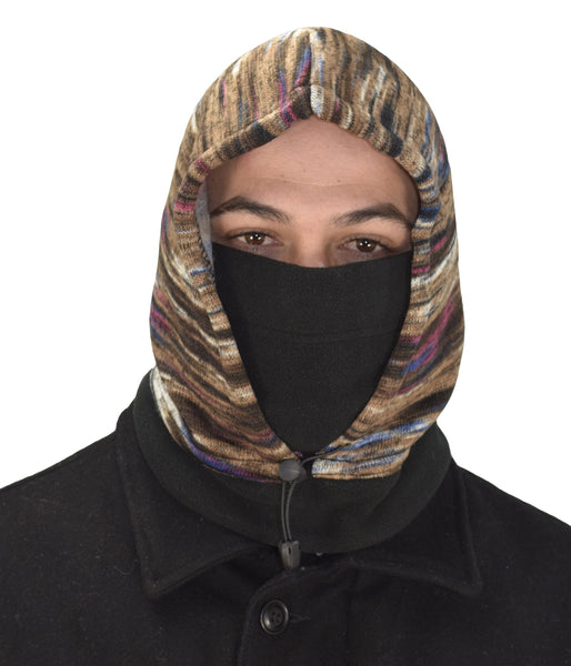 Thick Knit One Hole Facemask Balaclava Snowboarding Biker Mask (Faded
