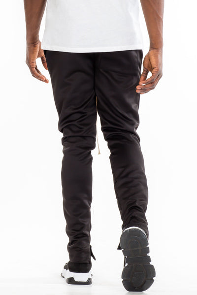 SIMPLE TRACK PANTS- BLACK