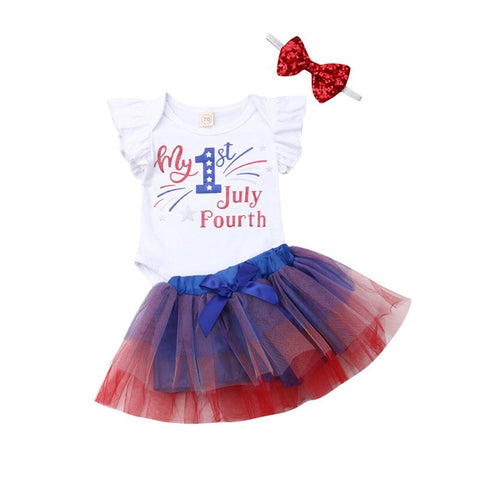 Fashion Newborn Baby Girl Sets 4th of July Clothes - Tresella