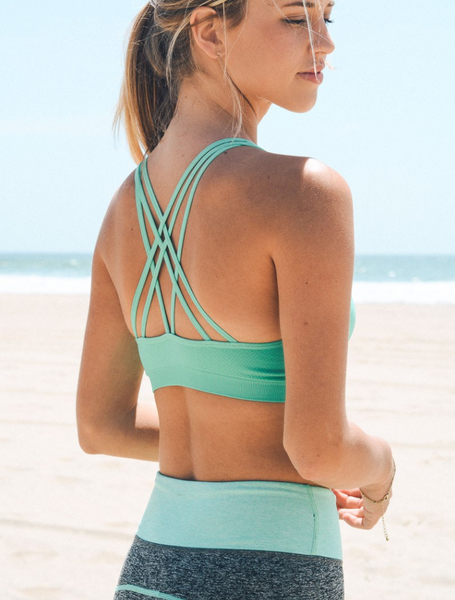 Mint Strappy Sports / Yoga Bra