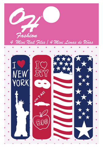 OH Fashion Mini Nail Files USA New York 🗽