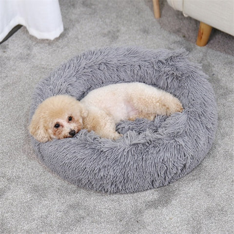 Pet Dog Beds Round House Long Wool Super