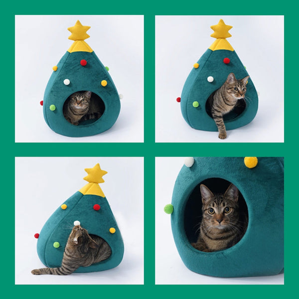 Pet Cat house dog bed Kennel Puppy Cave Warm
