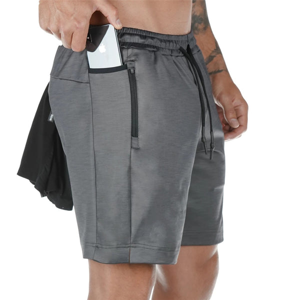 Running Quick dry Shorts Mens Gym Fitness Sports