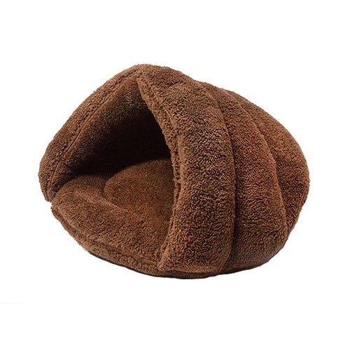 Winter Cat Bed Cave Warming Pet Sleeping Bag For