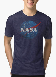 NASA Vintage Emblem Purple T-shirt