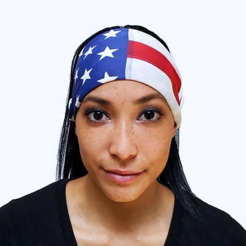 American Flag Button Headband - Tresella