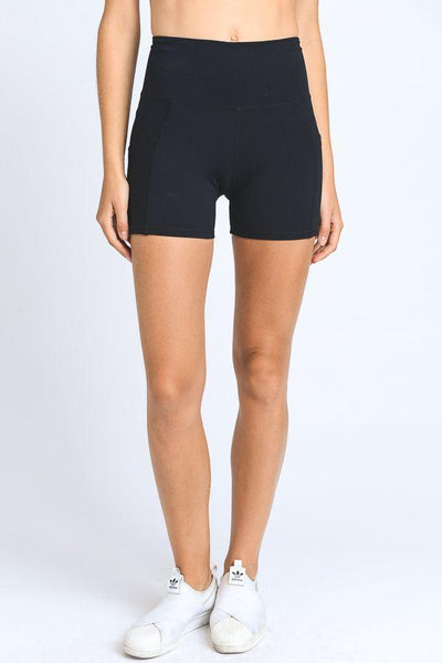 High Waist Active Shorts Feature Flattering Accents