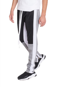 COLOR BLOCK TRACK PANTS- BLACK/ GREY - Tresella