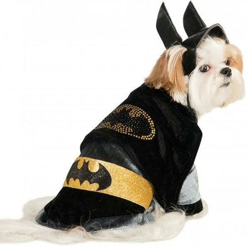 Cuddly Batman with Rhinestone Logo Pet Costume