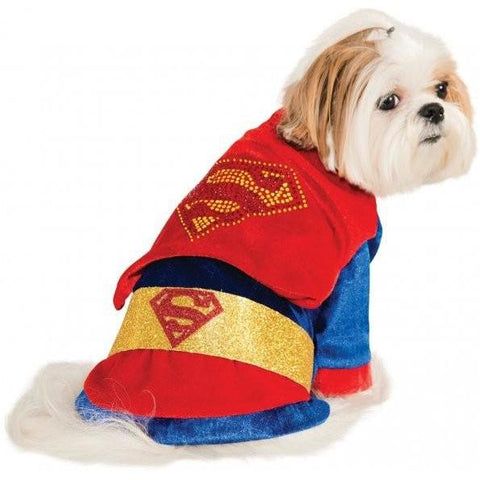 Cuddly Superman with Rhinestone Logo Pet Costume - Tresella