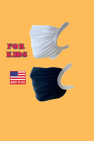 Elastic head loops washable reusable fabric face mask for kids - Tresella