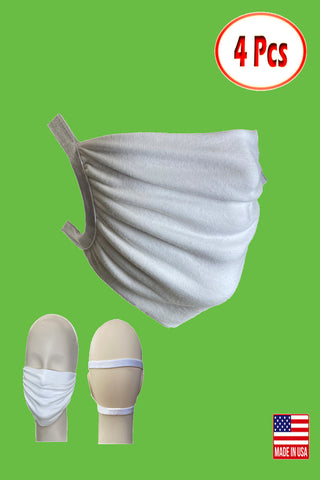 Stretchable satin head loops washable reusable pack of 4 face mask