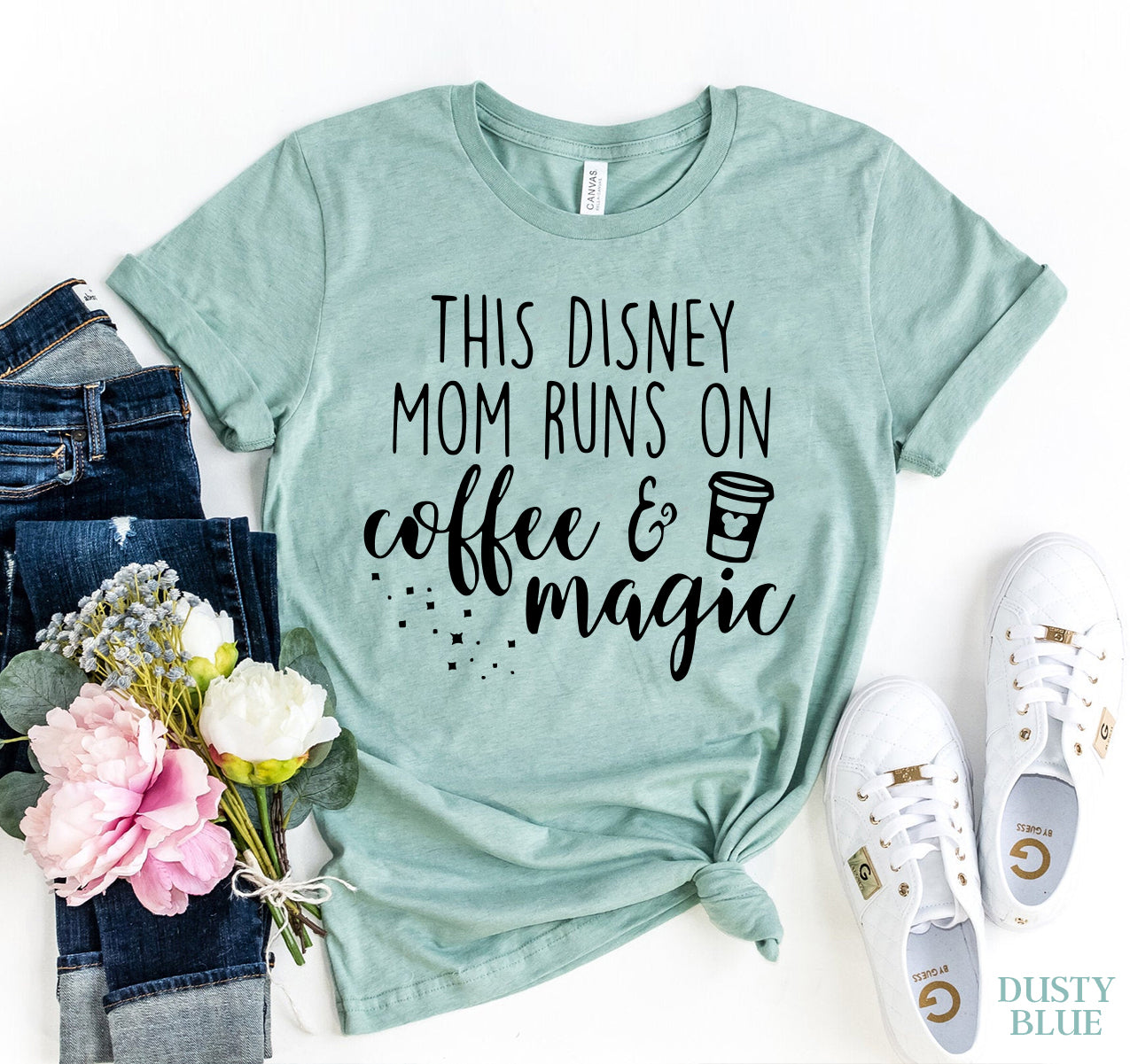This Mom Runs On Coffee And Magic T-shirt