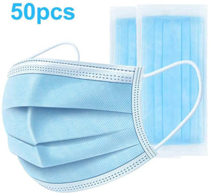 Disposable 3-Layer Earloop Non-Woven Face Mask - 50 pc (Single)