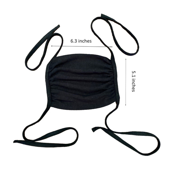 Adjustable tie up washable reusable pack 50 face mask - Tresella
