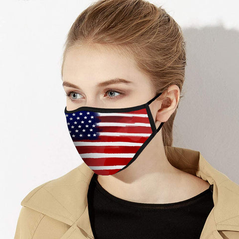 American Flag Face Mask - Made in USA - Tresella