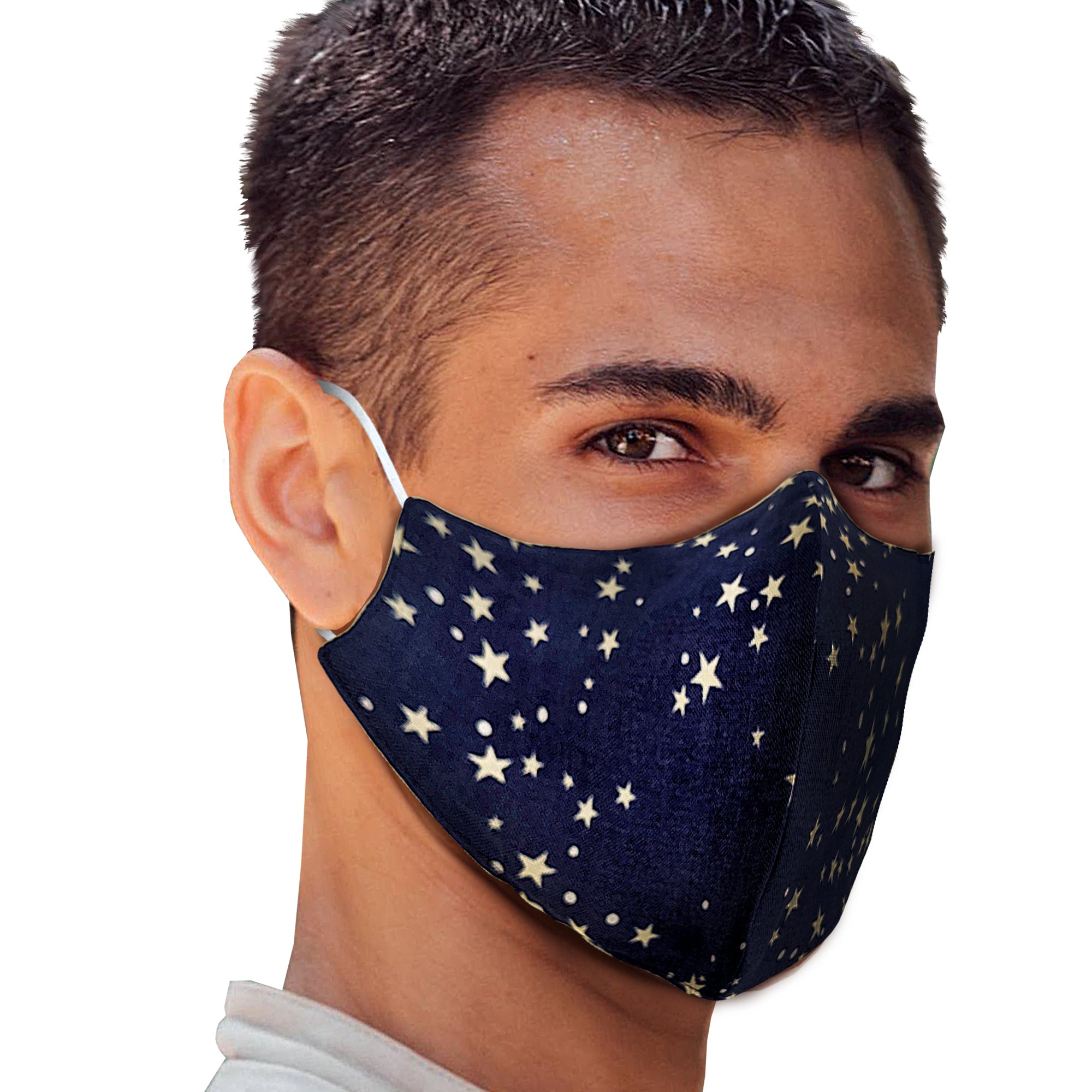 Stars Denim Face Mask