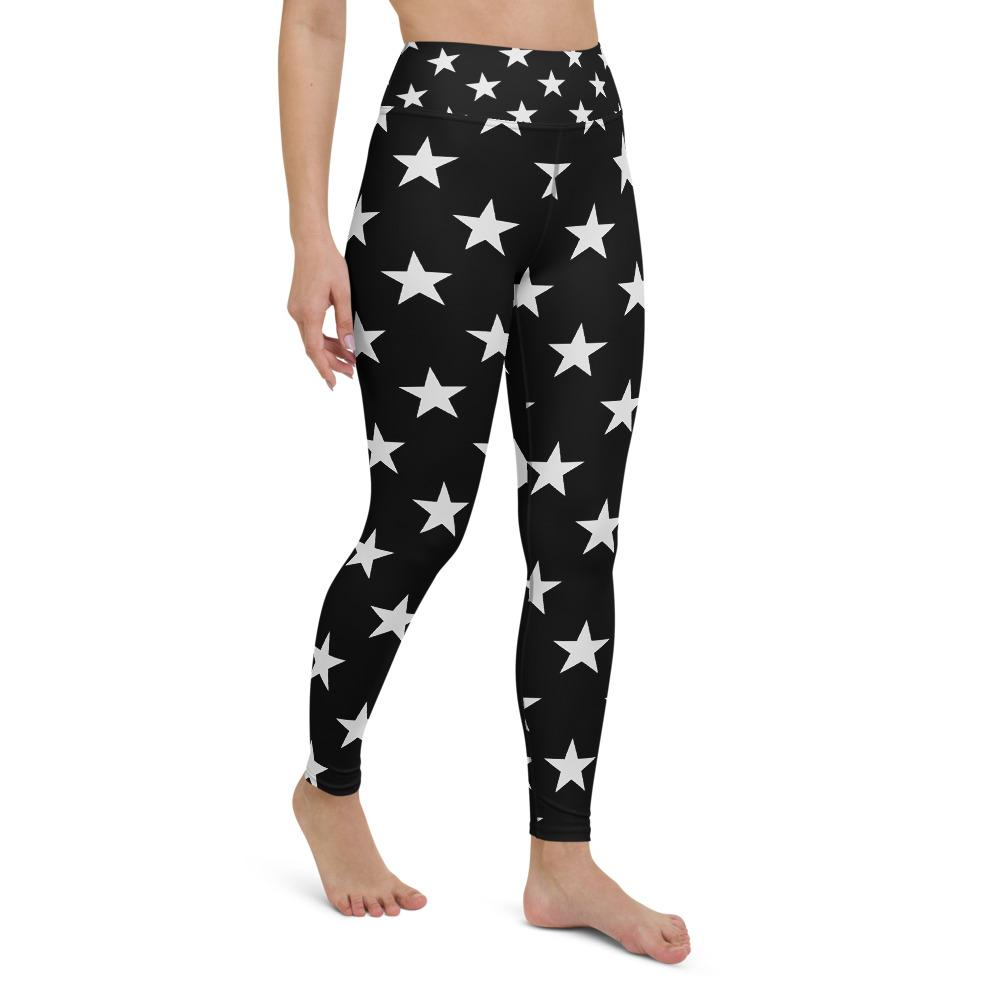 High Waist Star Yoga Leggings