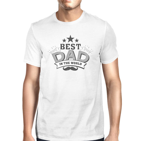 Best Dad In The World Mens Vintage Design Tee - Tresella