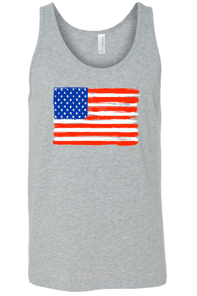 USA Flag Tank Top Shirt American Painted Pride