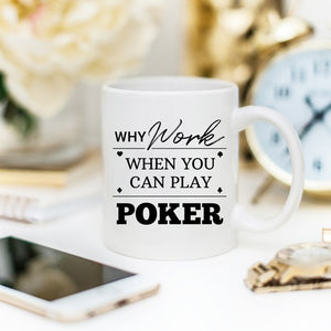 Poker Mug, Professional Poker Player Gifts, Poker