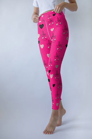 Hot Pink Unicorn leggings, Capris and Shorts
