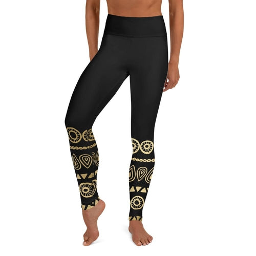 Gold Tribal Yoga Leggings