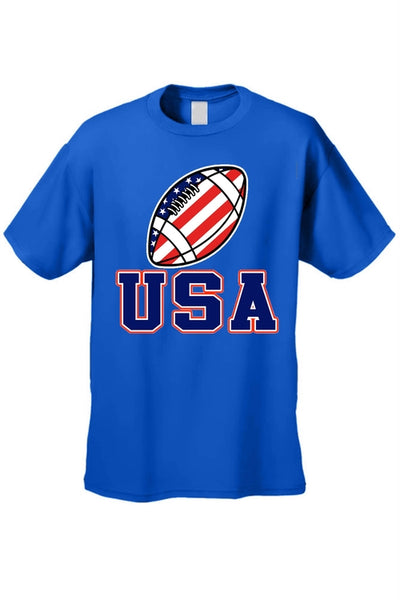 USA Flag T Shirt Football Pride Men's Short Sleeve