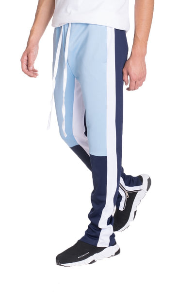 COLOR BLOCK TRACK PANTS- SKY BLUE/ NAVY - Tresella