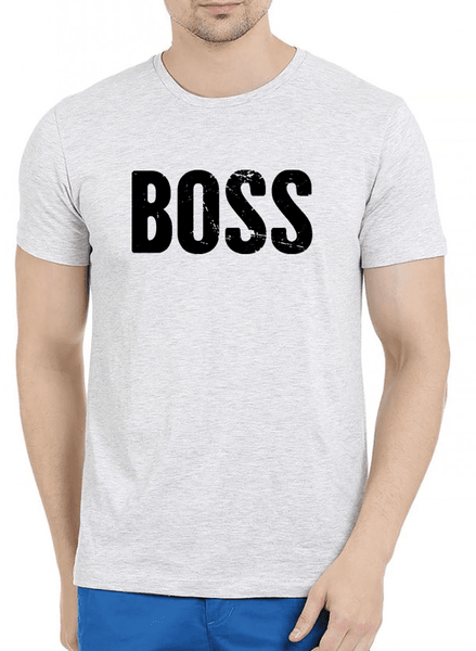 Boss Half Sleeves Melange T-shirt - Tresella