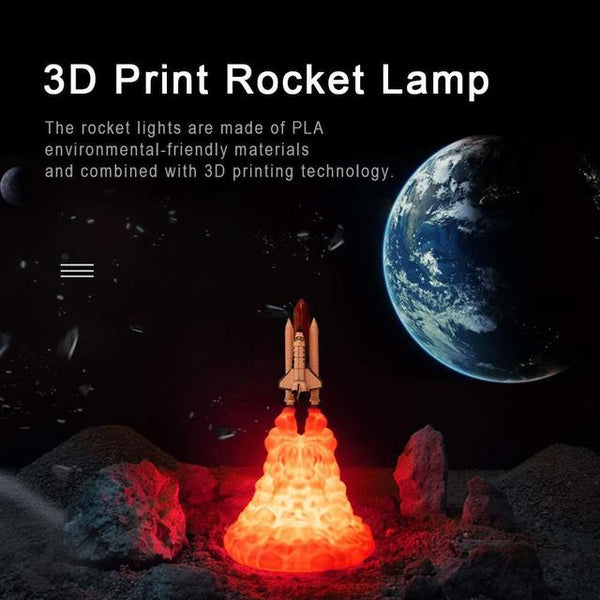 3D Printed Rocket Lights