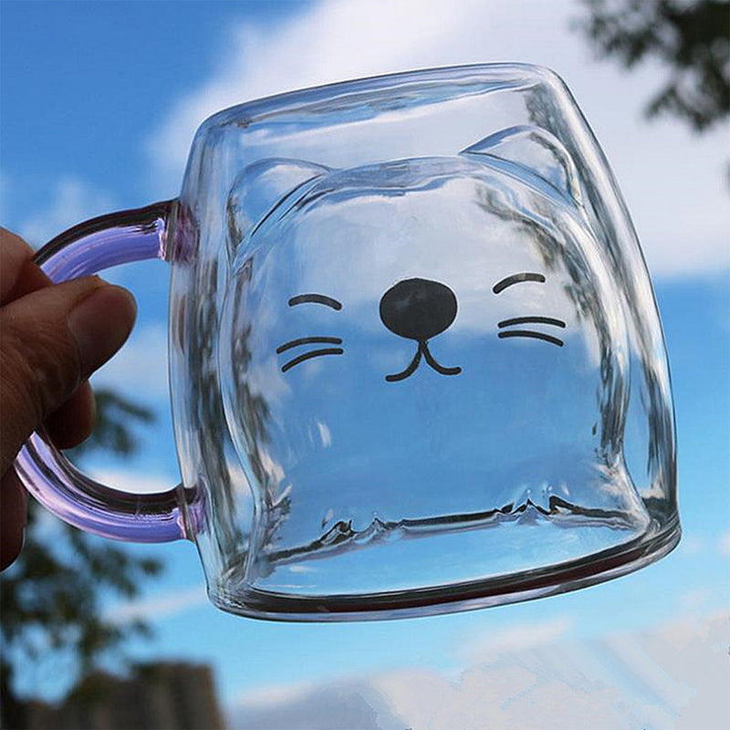 Creative Cute Double Coffee Cup